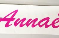 Autocollant personnalisé (nom, prénom, logo, photo…) pour mur