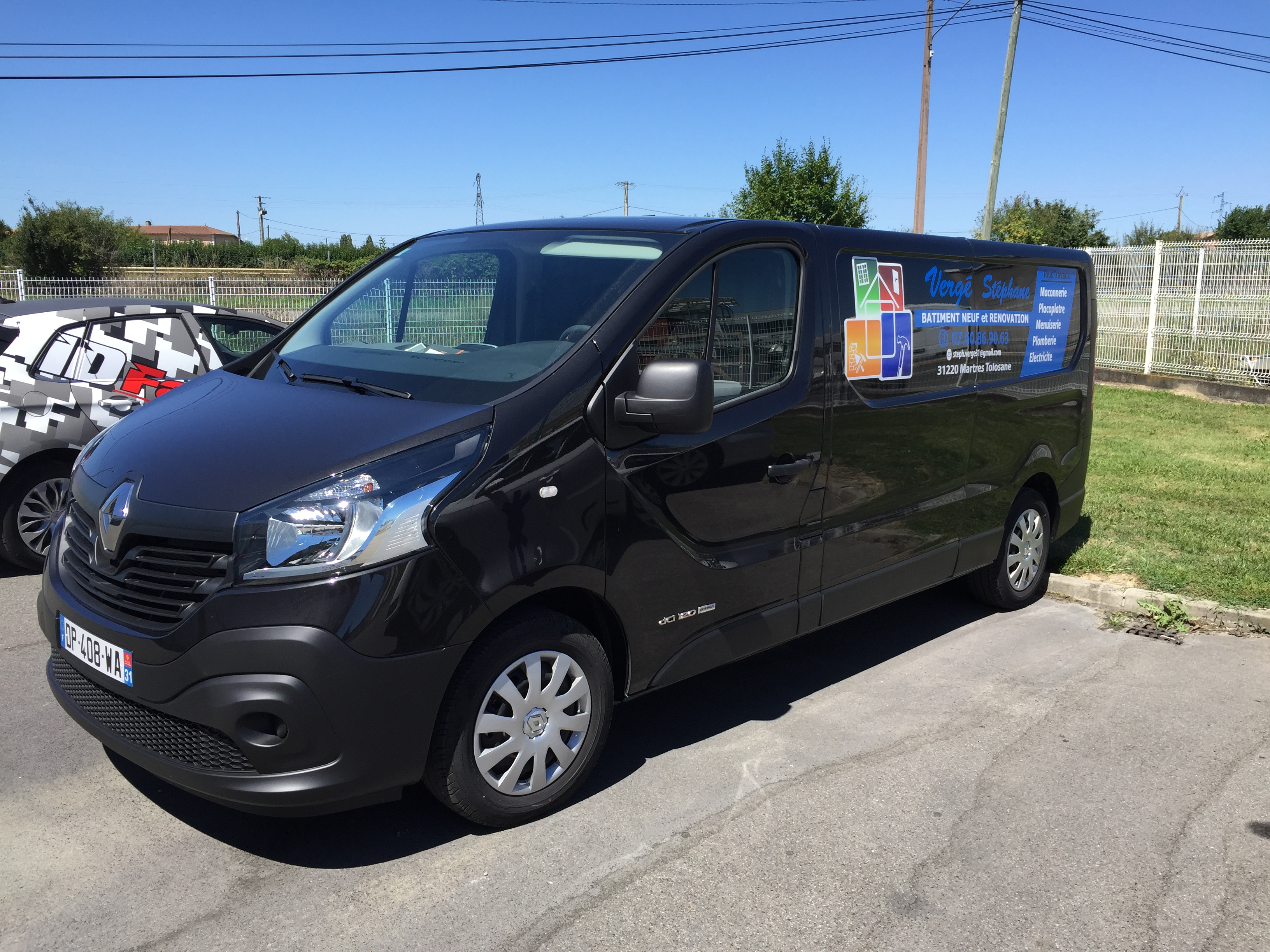 marquage camion renault trafic 2015 entrep verg st phane id factory impression num rique. Black Bedroom Furniture Sets. Home Design Ideas