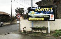 Enseigne garage Portet – Palaminy