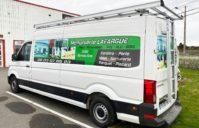 Marquage Pub Camion VW – Entreprise Menuiserie LAFARGUE